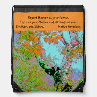 heaven and earth cinch bag