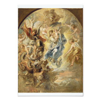 Heaven and Hell 13 Cm X 18 Cm Invitation Card