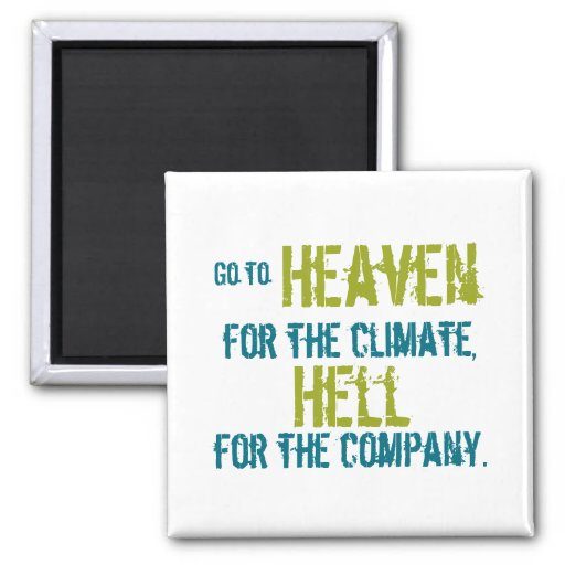 Heaven and hell fridge magnets