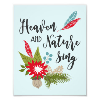 Heaven and Nature Sing | Decorative Print