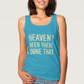 Heaven? - Been There, Done That [Cream] Basic Tank Top