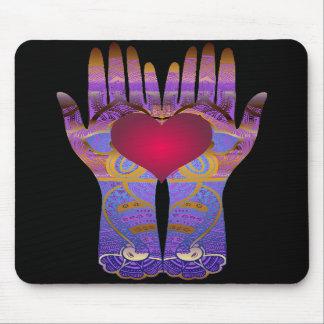 Heaven Hands Dark Mousepad