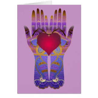 Heaven Hands Greeting Card