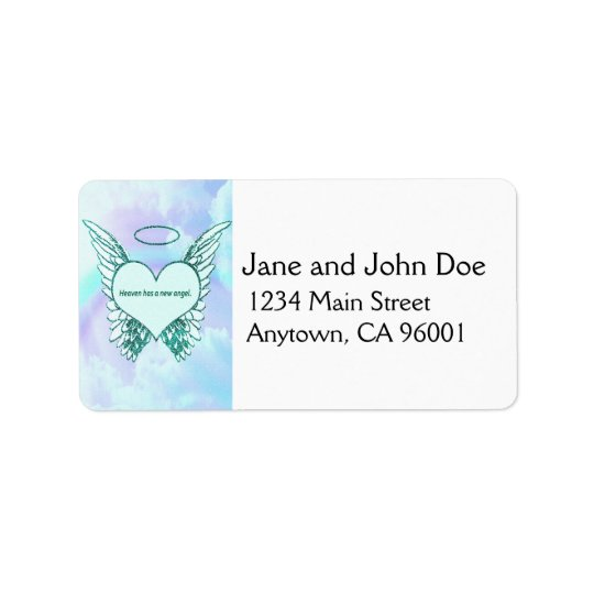 Heaven has a New Angel Address Label