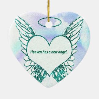 Heaven has a New Angel Christmas Ornament