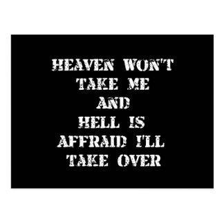 Heaven Hell Postcard