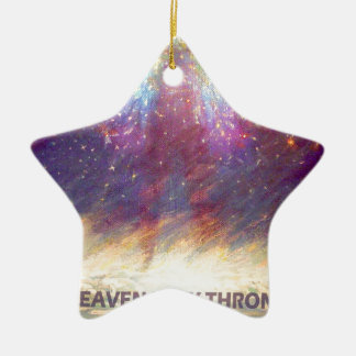 HEAVEN IS MY THRONE - EARTH IS MY FOOTSTOOL CERAMIC STAR DECORATION