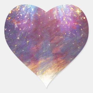 HEAVEN IS MY THRONE - EARTH IS MY FOOTSTOOL HEART STICKER