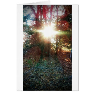 Heaven Let Your Light Shine Down Greeting Card