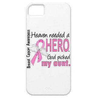 Heaven Needed A Hero Aunt Breast Cancer iPhone 5 Covers
