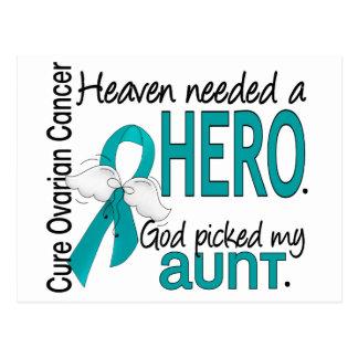 Heaven Needed a Hero Aunt Ovarian Cancer Postcard