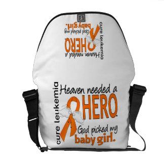 Heaven Needed a Hero Baby Girl Leukemia Courier Bags