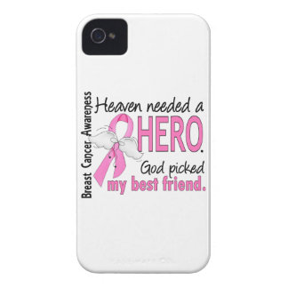 Heaven Needed A Hero Best Friend Breast Cancer Case-Mate iPhone 4 Case