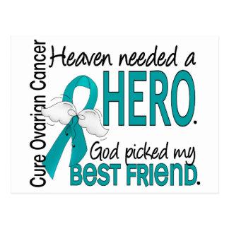 Heaven Needed a Hero Best Friend Ovarian Cancer Postcard
