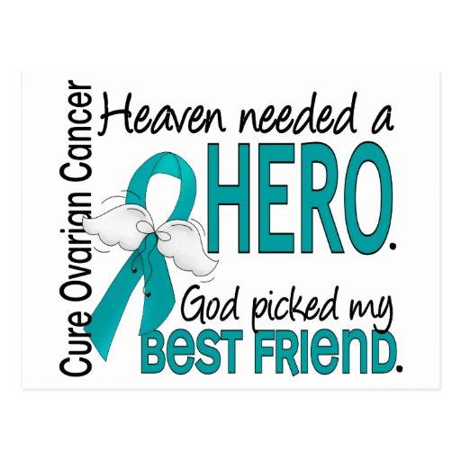 Heaven Needed a Hero Best Friend Ovarian Cancer Post Card