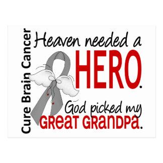 Heaven Needed a Hero Brain Cancer Great Grandpa Postcard