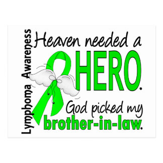 Heaven Needed a Hero Brother-In-Law Lymphoma Postcard