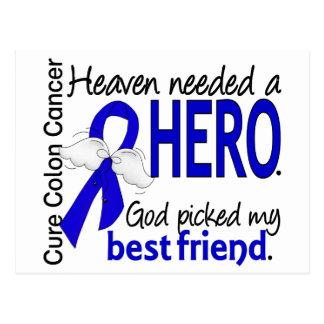 Heaven Needed a Hero Colon Cancer Best Friend Postcard