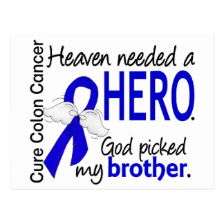 Heaven Needed a Hero Colon Cancer Brother Postcard