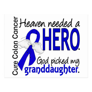 Heaven Needed a Hero Colon Cancer Granddaughter Postcard