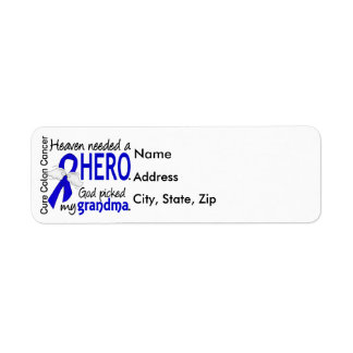 Heaven Needed a Hero Colon Cancer Grandma Return Address Label