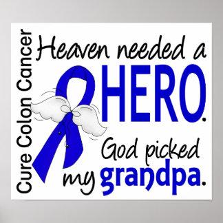 Heaven Needed a Hero Colon Cancer Grandpa Posters