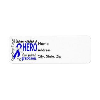 Heaven Needed a Hero Colon Cancer Grandson Return Address Label