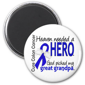 Heaven Needed a Hero Colon Cancer Great Grandpa Refrigerator Magnets