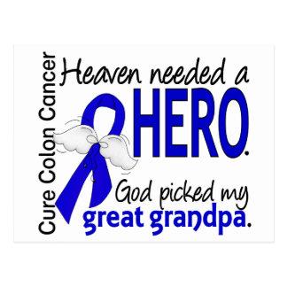Heaven Needed a Hero Colon Cancer Great Grandpa Postcard