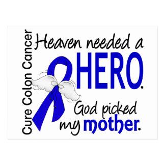 Heaven Needed a Hero Colon Cancer Mother Postcard