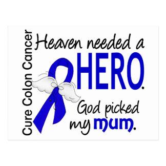 Heaven Needed a Hero Colon Cancer Mum Postcard