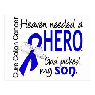 Heaven Needed a Hero Colon Cancer Son Postcard