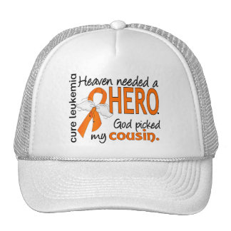 Heaven Needed a Hero Cousin Leukemia Mesh Hat