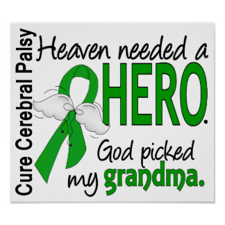 Heaven Needed a Hero CP Grandma Print