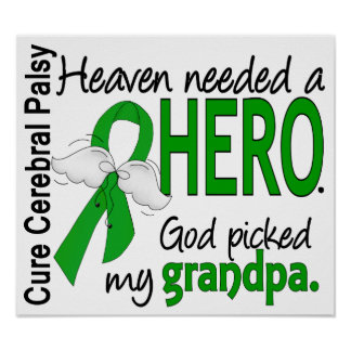 Heaven Needed a Hero CP Grandpa Print