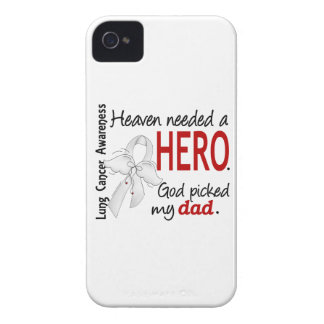 Heaven Needed a Hero Dad Lung Cancer iPhone 4 Case-Mate Cases
