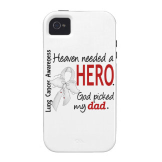 Heaven Needed a Hero Dad Lung Cancer Case-Mate iPhone 4 Cases