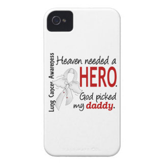 Heaven Needed A Hero Daddy Lung Cancer Case-Mate iPhone 4 Case