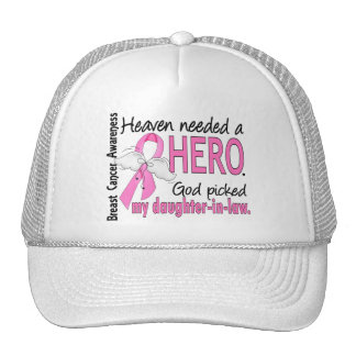Heaven Needed A Hero Daughter-In-Law Breast Cancer Hats