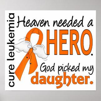 Heaven Needed a Hero Daughter Leukemia Print