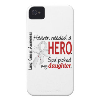 Heaven Needed A Hero Daughter Lung Cancer Case-Mate iPhone 4 Cases
