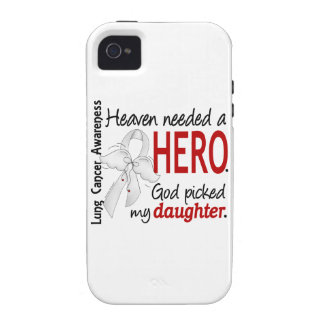 Heaven Needed A Hero Daughter Lung Cancer Vibe iPhone 4 Case