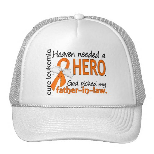 Heaven Needed a Hero Father-In-Law Leukemia Mesh Hats