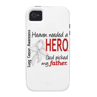 Heaven Needed A Hero Father Lung Cancer iPhone 4 Case