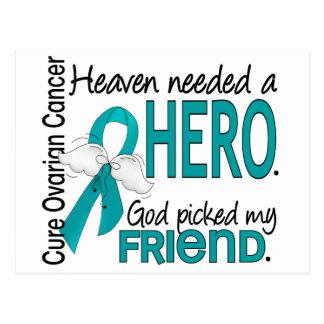 Heaven Needed a Hero Friend Ovarian Cancer Postcard