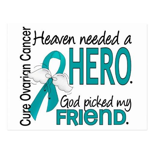 Heaven Needed a Hero Friend Ovarian Cancer Postcards