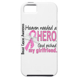 Heaven Needed A Hero Girlfriend Breast Cancer Tough iPhone 5 Case