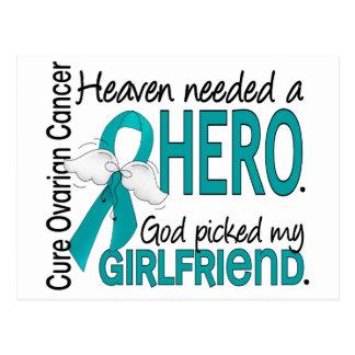 Heaven Needed a Hero Girlfriend Ovarian Cancer Postcard