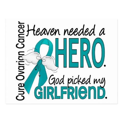 Heaven Needed a Hero Girlfriend Ovarian Cancer Post Card