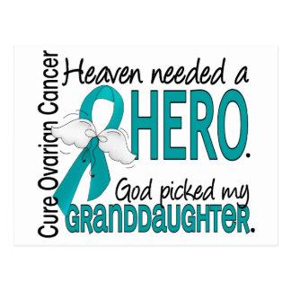 Heaven Needed a Hero Granddaughter Ovarian Cancer Postcard